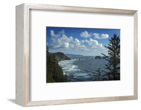 View of Pacific Ocean from Cape Meares State Park-Macduff Everton-Framed Art Print