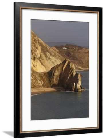Durdle Door, a Rock Arch on the Jurassic Coast World Heritage Site, Near Lulworth Cove-Nigel Hicks-Framed Art Print