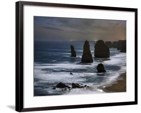 Night Time View of the Twelve Apostles Rocks on the Coast of Victoria, Australia-Babak Tafreshi-Framed Art Print