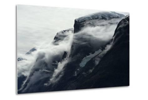 Glaciers Covered with Clouds on Skjoldungen Island-Raul Touzon-Metal Print