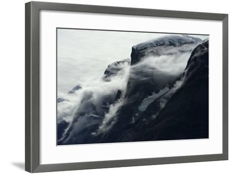 Glaciers Covered with Clouds on Skjoldungen Island-Raul Touzon-Framed Art Print