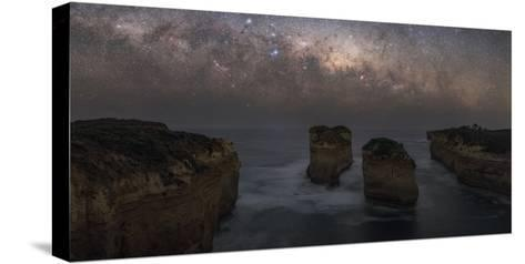 The Milky Way Sets over the Southern Ocean Coast in Port Campbell National Park-Babak Tafreshi-Stretched Canvas Print