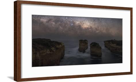 The Milky Way Sets over the Southern Ocean Coast in Port Campbell National Park-Babak Tafreshi-Framed Art Print