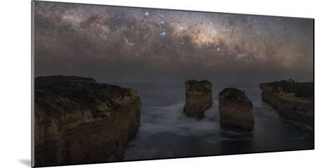 The Milky Way Sets over the Southern Ocean Coast in Port Campbell National Park-Babak Tafreshi-Mounted Photographic Print