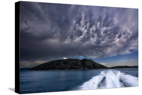 Storm Clouds Build over the Mediterranean Sea-Andy Mann-Stretched Canvas Print