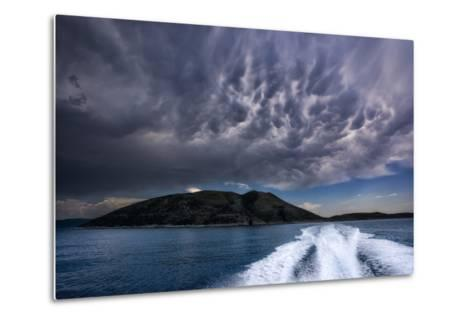 Storm Clouds Build over the Mediterranean Sea-Andy Mann-Metal Print
