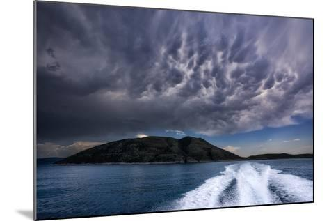 Storm Clouds Build over the Mediterranean Sea-Andy Mann-Mounted Photographic Print