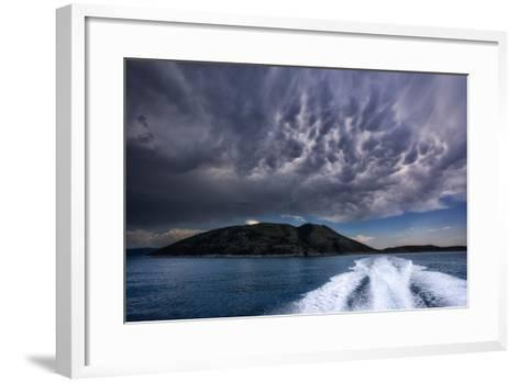 Storm Clouds Build over the Mediterranean Sea-Andy Mann-Framed Art Print