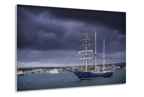 Ships Moored at Puerto Ayora Harbor-Jad Davenport-Metal Print