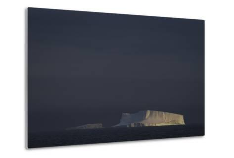 An Iceberg Illuminated by Early Morning Light Near the Antarctica Peninsula-David Griffin-Metal Print