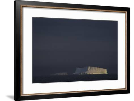 An Iceberg Illuminated by Early Morning Light Near the Antarctica Peninsula-David Griffin-Framed Art Print