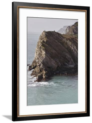 Cliffs at Lulworth Cove, in the Jurassic Coast World Heritage Site, Dorset, Great Britain-Nigel Hicks-Framed Art Print