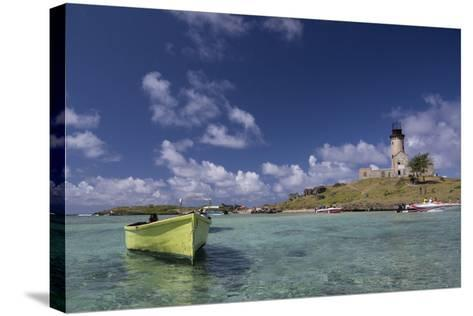 Ile Aux Fouquets, a Small Islet in the Blue Bay with a Lighthouse-Gabby Salazar-Stretched Canvas Print