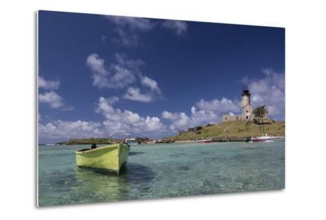 Ile Aux Fouquets, a Small Islet in the Blue Bay with a Lighthouse-Gabby Salazar-Metal Print