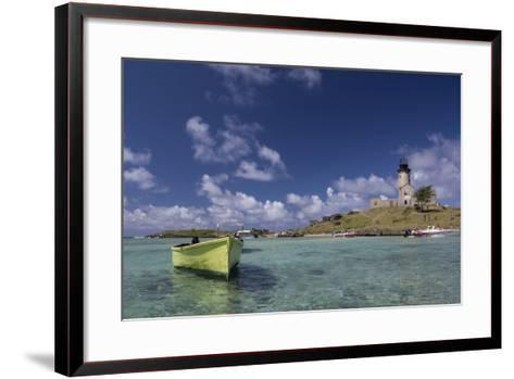 Ile Aux Fouquets, a Small Islet in the Blue Bay with a Lighthouse-Gabby Salazar-Framed Art Print