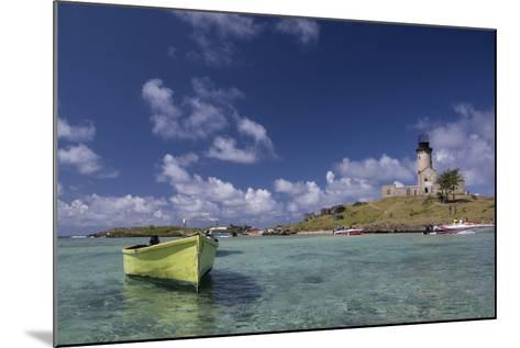 Ile Aux Fouquets, a Small Islet in the Blue Bay with a Lighthouse-Gabby Salazar-Mounted Photographic Print