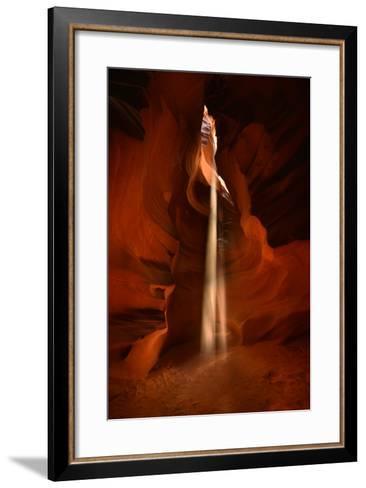 Beams of Sunlight Filter Through Sandstone Formations in Antelope Pass-Raul Touzon-Framed Art Print