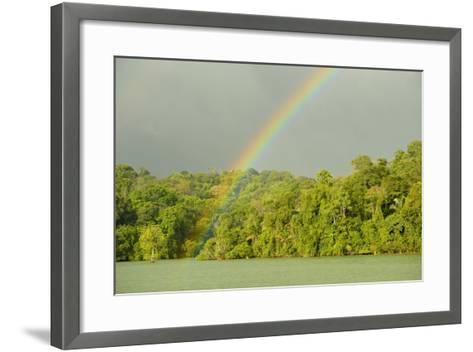 A Rainbow over Barro Colorado Island, Panama-Jonathan Kingston-Framed Art Print