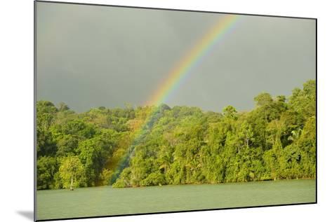 A Rainbow over Barro Colorado Island, Panama-Jonathan Kingston-Mounted Photographic Print