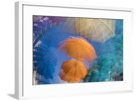Umbrellas on Display in a Shopping Center in the Capital of Port Louis-Gabby Salazar-Framed Art Print