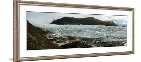 Glaciers in Vatnajokull National Park on the South Coast of Iceland-Raul Touzon-Framed Art Print