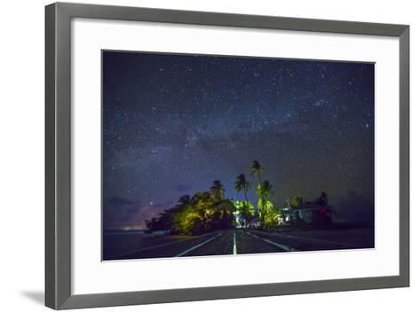 Carrie Bow Caye and its Remote Island Field Station Managed by the Smithsonian Instituion-Clare Fieseler-Framed Art Print