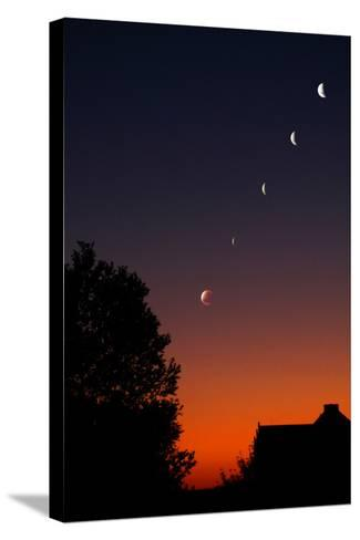 Multiple Exposures of a Total Lunar Eclipse-Stephen O'Meara-Stretched Canvas Print