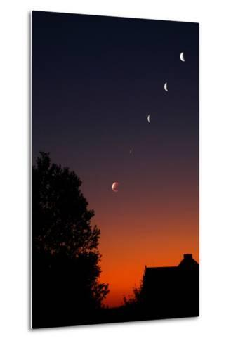 Multiple Exposures of a Total Lunar Eclipse-Stephen O'Meara-Metal Print
