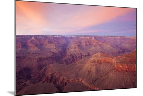 Sunset at Mather Point in Grand Canyon National Park, Arizona-John Burcham-Mounted Photographic Print