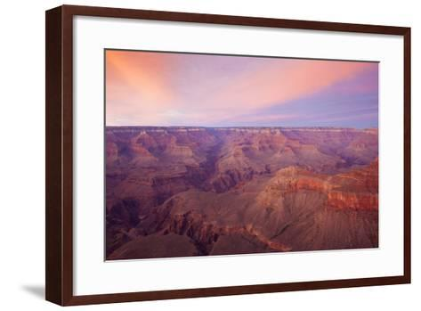 Sunset at Mather Point in Grand Canyon National Park, Arizona-John Burcham-Framed Art Print
