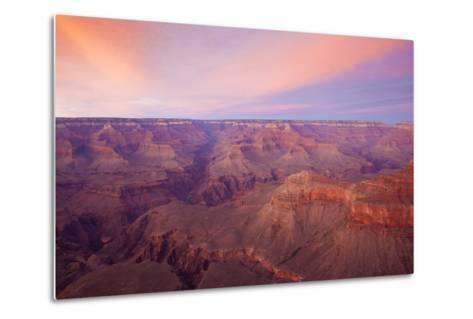 Sunset at Mather Point in Grand Canyon National Park, Arizona-John Burcham-Metal Print
