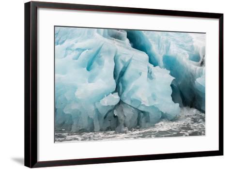 Blue Icebergs in Antarctica-Tom Murphy-Framed Art Print