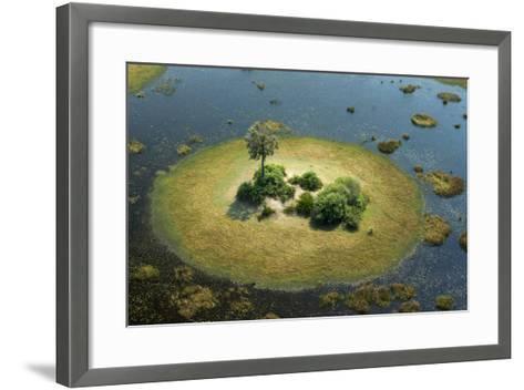 A Small Island in a Wetland in Botswana-Beverly Joubert-Framed Art Print