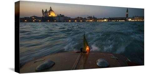 The Piazza San Marco from a Water Taxi on the Giudecca Canal-Stephen Alvarez-Stretched Canvas Print