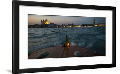The Piazza San Marco from a Water Taxi on the Giudecca Canal-Stephen Alvarez-Framed Art Print