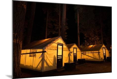 Tent Cabins Glow at Curry Village in Yosemite National Park-Dmitri Alexander-Mounted Photographic Print