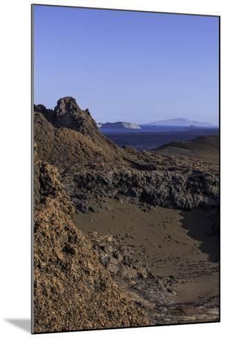 Spatter Cones and Rough Volcanic Landscape on Bartolome Island-Jad Davenport-Mounted Photographic Print