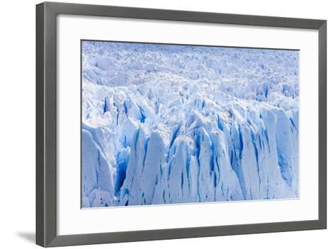 Deep Blue Cracks on the Front Wall of the Perito Moreno Glacier-Mike Theiss-Framed Art Print