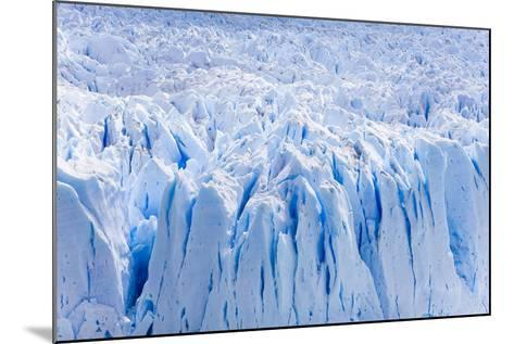 Deep Blue Cracks on the Front Wall of the Perito Moreno Glacier-Mike Theiss-Mounted Photographic Print