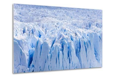 Deep Blue Cracks on the Front Wall of the Perito Moreno Glacier-Mike Theiss-Metal Print