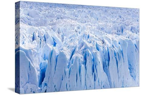 Deep Blue Cracks on the Front Wall of the Perito Moreno Glacier-Mike Theiss-Stretched Canvas Print