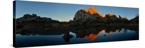 Sandstone Formations and Boulders at Sunset in Joshua Tree National Park-Raul Touzon-Stretched Canvas Print