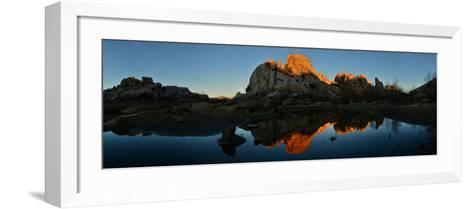 Sandstone Formations and Boulders at Sunset in Joshua Tree National Park-Raul Touzon-Framed Art Print