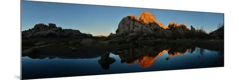 Sandstone Formations and Boulders at Sunset in Joshua Tree National Park-Raul Touzon-Mounted Photographic Print