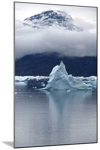 Icebergs Floating in Scoresby Sound, Greenland-Raul Touzon-Mounted Photographic Print