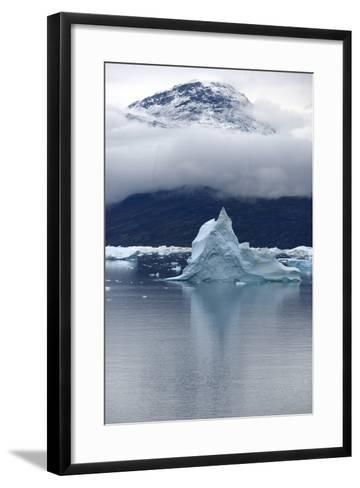 Icebergs Floating in Scoresby Sound, Greenland-Raul Touzon-Framed Art Print