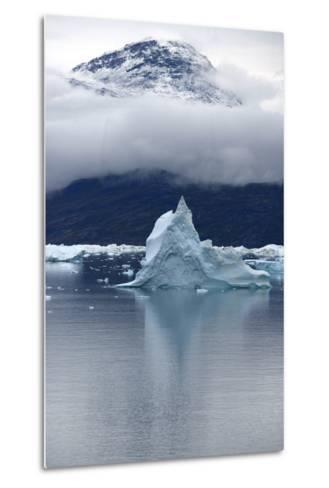 Icebergs Floating in Scoresby Sound, Greenland-Raul Touzon-Metal Print