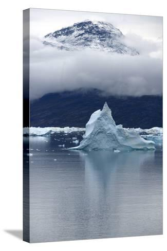 Icebergs Floating in Scoresby Sound, Greenland-Raul Touzon-Stretched Canvas Print