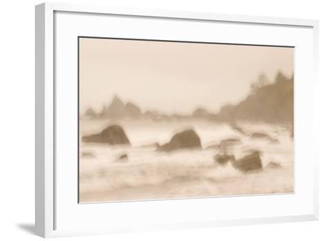 Rocky Shoreline at Hidden Beach in Redwood National Park-Philip Schermeister-Framed Art Print