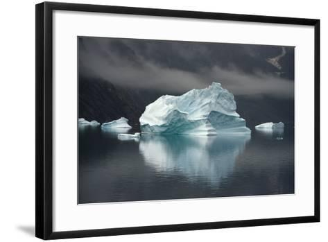 Large Icebergs in Scoresby Sound, Greenland-Raul Touzon-Framed Art Print